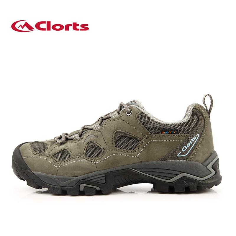 ФОТО Clorts Men Nubuck Mountain Shoes Men Waterproof Hiking Shoes Waterproof Male Outdoor Shoes HKL-810A/B