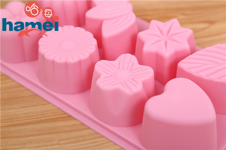 1 PCS Hot Sale Silicone Ice Cube Chocolate Cake Cookie Cupcake Soap Molds Mould Tool Leaf Flower D652