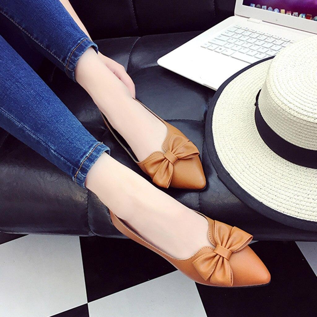 1513310fb Borboleta Da 2019 Toe Mulheres Preto nó Sapatos marrom Deslizamento Casual  Zapatos Saltos Moda De verde Hot Mujer Mulher ...