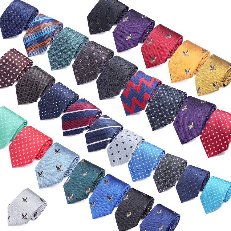 31 Styles Men's Ties Solid Color Stripe Flower Floral 8cm Jacquard Necktie Accessories Daily Wear Cravats Wedding Party Gift