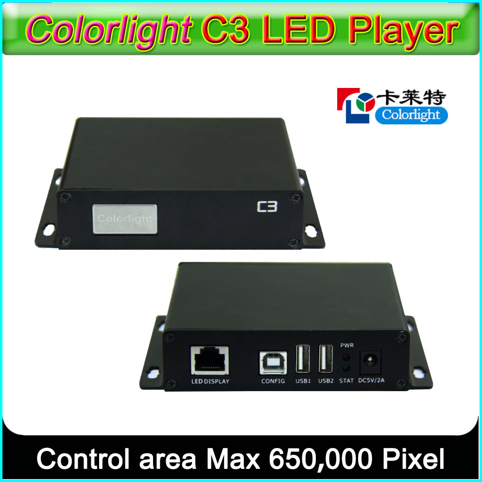 Colorlight C3 LED Player Asynchronous LED Sender Box Supported All Colorlight LED Receiving Card T7 IT7