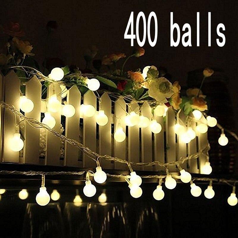 Outdoor Wedding Christmas LED Bulb String Light Led Rainbow Light Waterproof LED String 50M 400 Led