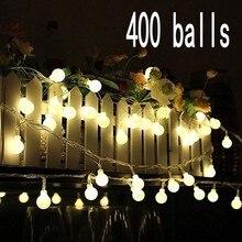 Outdoor Wedding Christmas LED bulb string light led rainbow light waterproof  LED String 50M 400 led ball AC 220V