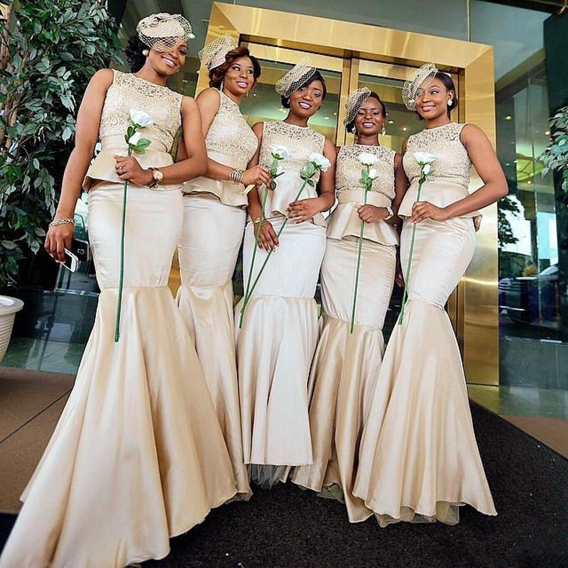 2016 Two Pieces font b Bridesmaid b font font b Dresses b font Scoop Lace Pleat