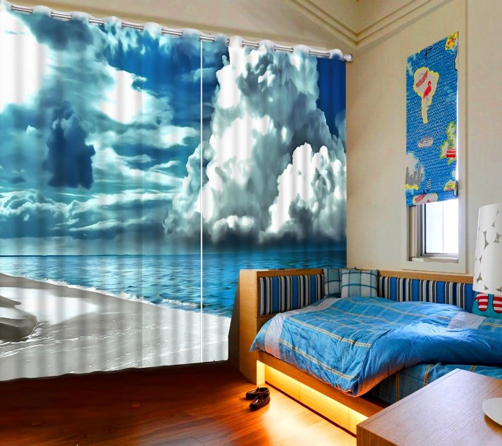 aliexpress.com : acquista 3d stereoscopico personalizzato tende ... - Soggiorno Blu E Bianco