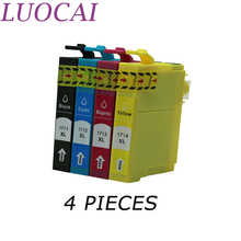 цена на LuoCai 4 Color Compatible Ink Cartridge For Epson T1711 T1712 T1713 T1714  XP-33 103 203 207 303 306 403 406 313 413 printers