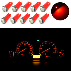 20Pcs Optional Color T5 5050 1SMD High Quality Super Light Durable Wedge Dashboard LED Light Bulbs 2721 74 73 70 17 18 37#268467