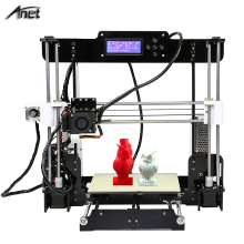 Cheap Price Anet A8 3D Printer Full Acrylic Frame High Precision Reprap Prusa i3 DIY 3D Printer Kit 2004 LCD Display 8GB SD Card