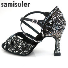 Samisolerlatin Танцы женская обувь zapatos de baile latino mujer;