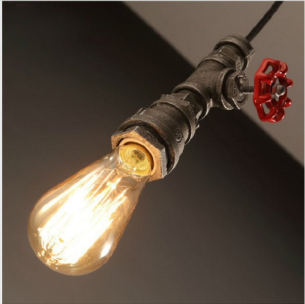 Retro restaurant bar hanging lamp act the role ofing loft personality decoration rural industrial pipe pendant light role of ict in rural poverty alleviation