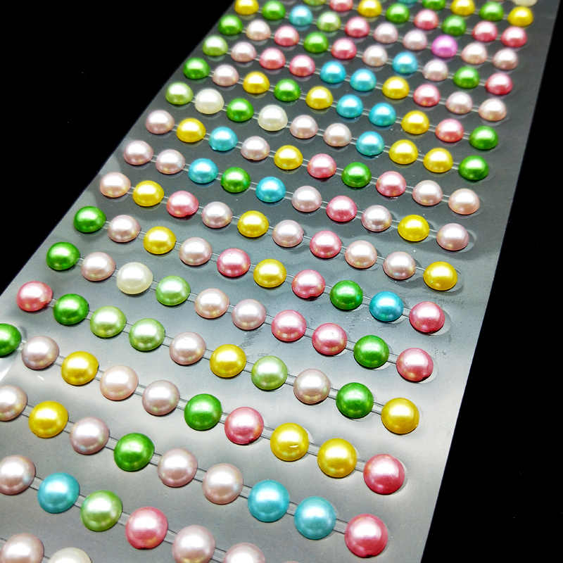 7mm Colorful Pearls Stickers Self Adhesive Beads For Diy Decal Mobile Cups  Stickers Craft Diy Kids 14cc4c6f428b