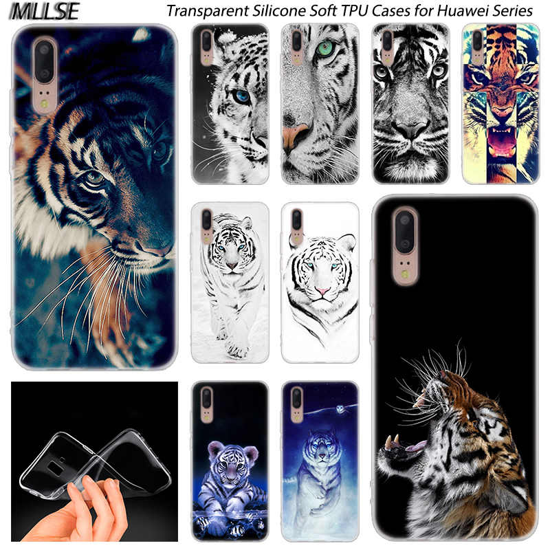 Hot Animal tiger Cub Soft Silicone Case for Huawei P30 P20 P10 P9 P8 Lite 2017 P30 P20 Pro Mini P Smart 2019 Plus Fashion Cover
