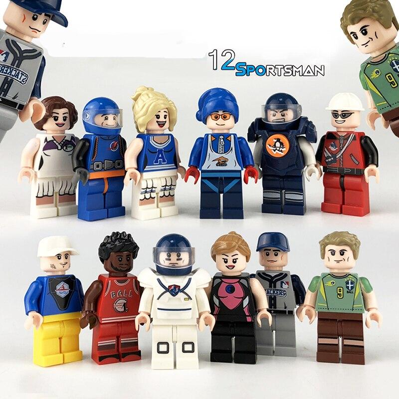 Wholesale LegoINGlys Minifigure Series set Building Blocks Bricks Figures Sportsman Athlete Toys for kids Christmas Gift