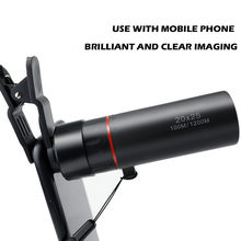 Compatible Camera Telescope Monocular Telephoto Camera Clip Lens FR Mobile Phone(China)