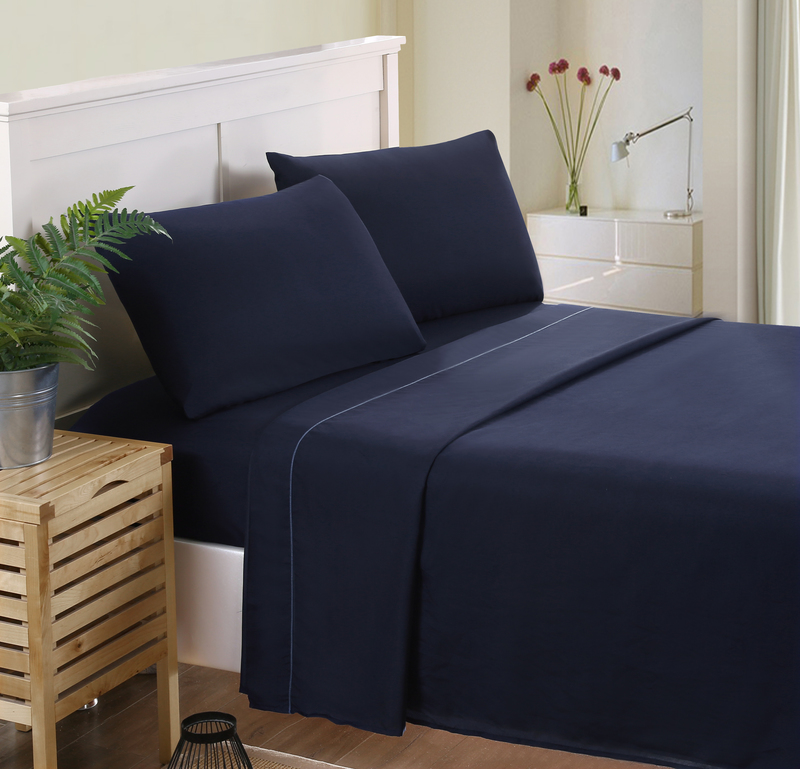 MECEROCK 4pcs Factory Hot Sale Solid Color Bedding Set Fitted Sheet Flat Sheet Sets Pillowcases Bed Linen Twin XL Full Queen