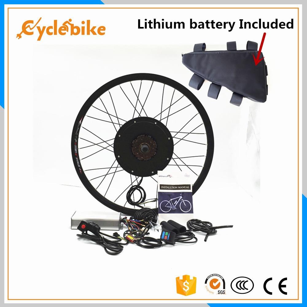 Sepeda motor depan atau belakang 65km / h 48v 1500w E bike kit 1500w - Bersepeda