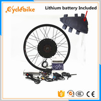 Front or rear motor 65km/h 48v 1500w E bike kit 1500w Electric bike conversion kit with Lithium battery pack