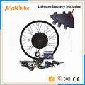Tipo di cassetta 8s o 9s per la parte posteriore del motore 65 kmh 48v 1500w E kit bici 1500w bici Elettrica kit di conversione con batteria Al Litio