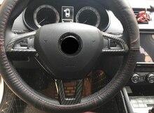 ABS Chrome для Skoda Octavia 2016 2017 2018 рулевого колеса автомобиля кнопка рамки крышка отделка Стайлинг Авто интимные аксессуары