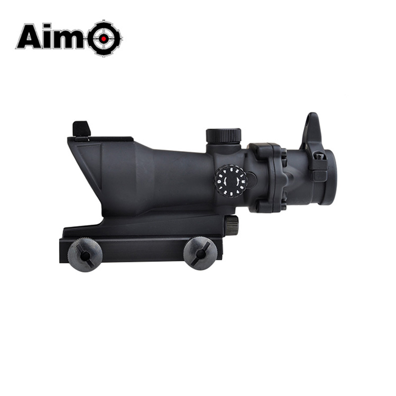 Aim-O Airsoft Tactical Sight Scope ACOG 4×32 Scope Red/Green Reticle With Mini Red Dot Hunting Optics AO5318