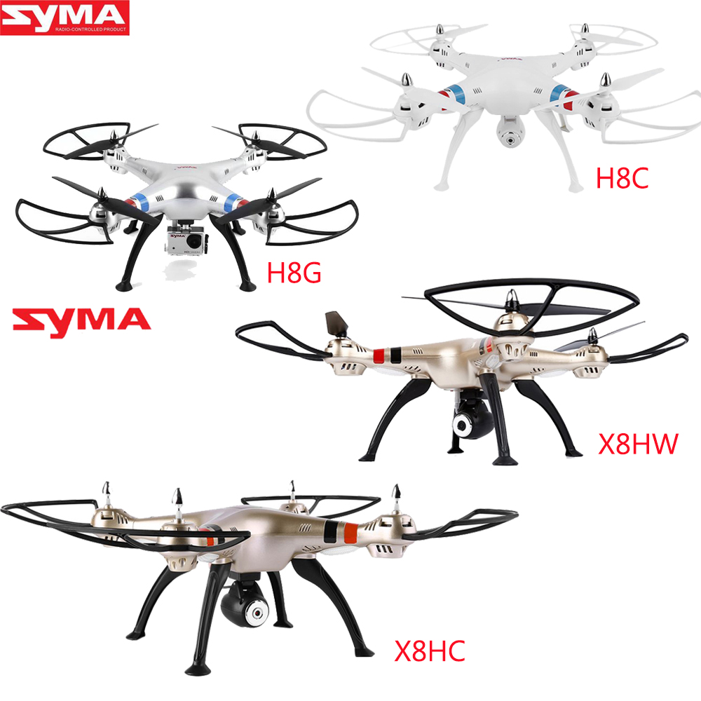 SYMA X8G X8C X8HC X8HW 2.4 ghz 4CH Frequenza 0.3MP 2MP 8MP HD Macchina Fotografica RC Quadcopter Elicottero Professionale Drone Con Il HA CONDOTTO LA Luce-in Elicotteri radiocomandati da Giocattoli e hobby su  Gruppo 1