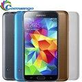 """Оригинальный Разблокирована Samsung Galaxy S5 i9600 LTE WCDMA 2 ГБ RAM 16 ГБ ROM G900F 16MP Камера Quad Core 5.1 """"5-дюймовый Сотовый Телефон на складе"""