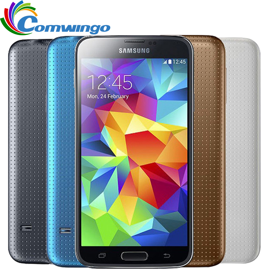 Original Unlocked Samsung Galaxy S5 i9600 LTE WCDMA 2GB RAM 16GB ROM G900F 16MP Camera Quad