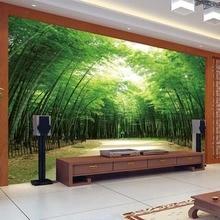 Individuelle Fototapeten Klassische Bambus Wald 3D Wandbilder Chinesischen Stil Wohnzimmer Studie Hintergrund Wand Wohnkultur Pa