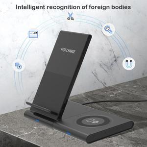 Image 5 - Samsung Galaxy için kablosuz şarj cihazı 42m/ 46mm S2 S3 S4 iPhone Xs X Galaxy S10 S9 s8 cep telefonu kablosuz şarj pedi 10W
