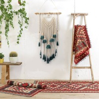 Hanging Ornament Bohemian Woven Tapestry Hanging Wall Decor Room Decoration Gradient Color Wall Art Rope Cord Handmade Modern