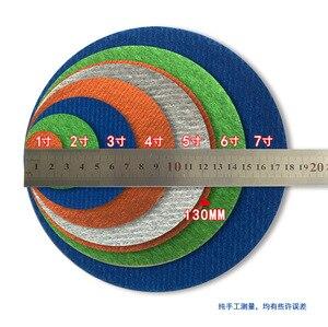 Image 3 - 20 piezas discos de lijado impermeables de carburo de silicio, gancho y bucle de 5 pulgadas (125mm) para papel de lija abrasivo redondo húmedo/seco