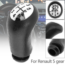 Black 5 Speed ABS Plastic Car Manual Gear Shift Handball Knob for Renault CLIO MK3 3 III Megane MK2 Scenic Models