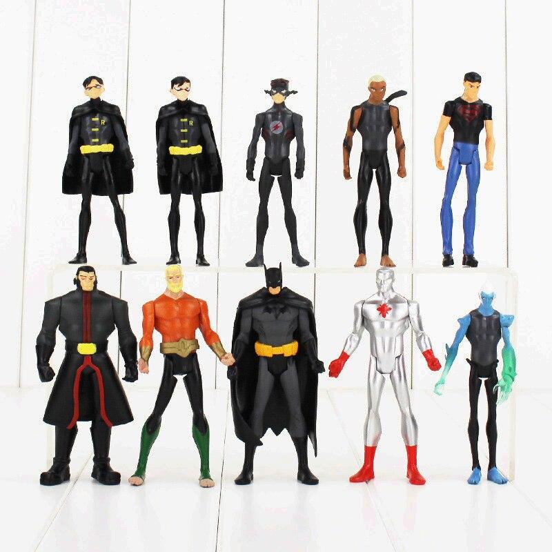 10pcs/set Justice league superman Superhero batman Lantern Aquaman PVC Action Figure Collection Model Toy 100% new and original xgf dv4a ls lg plc special module analog output module