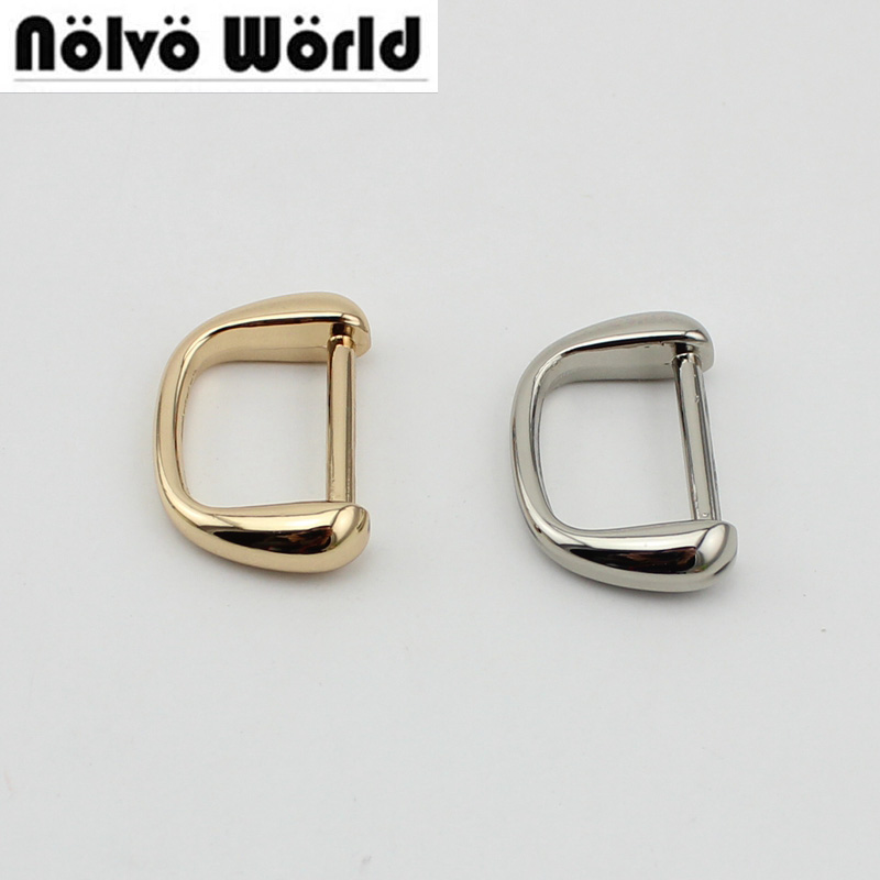 10pcs 50pcs 4 Colors Inside 19mm D Ring DIY Metal Accessory Online Shop Wholesale Bags Metal Accessory Alloy Loop For Handbag