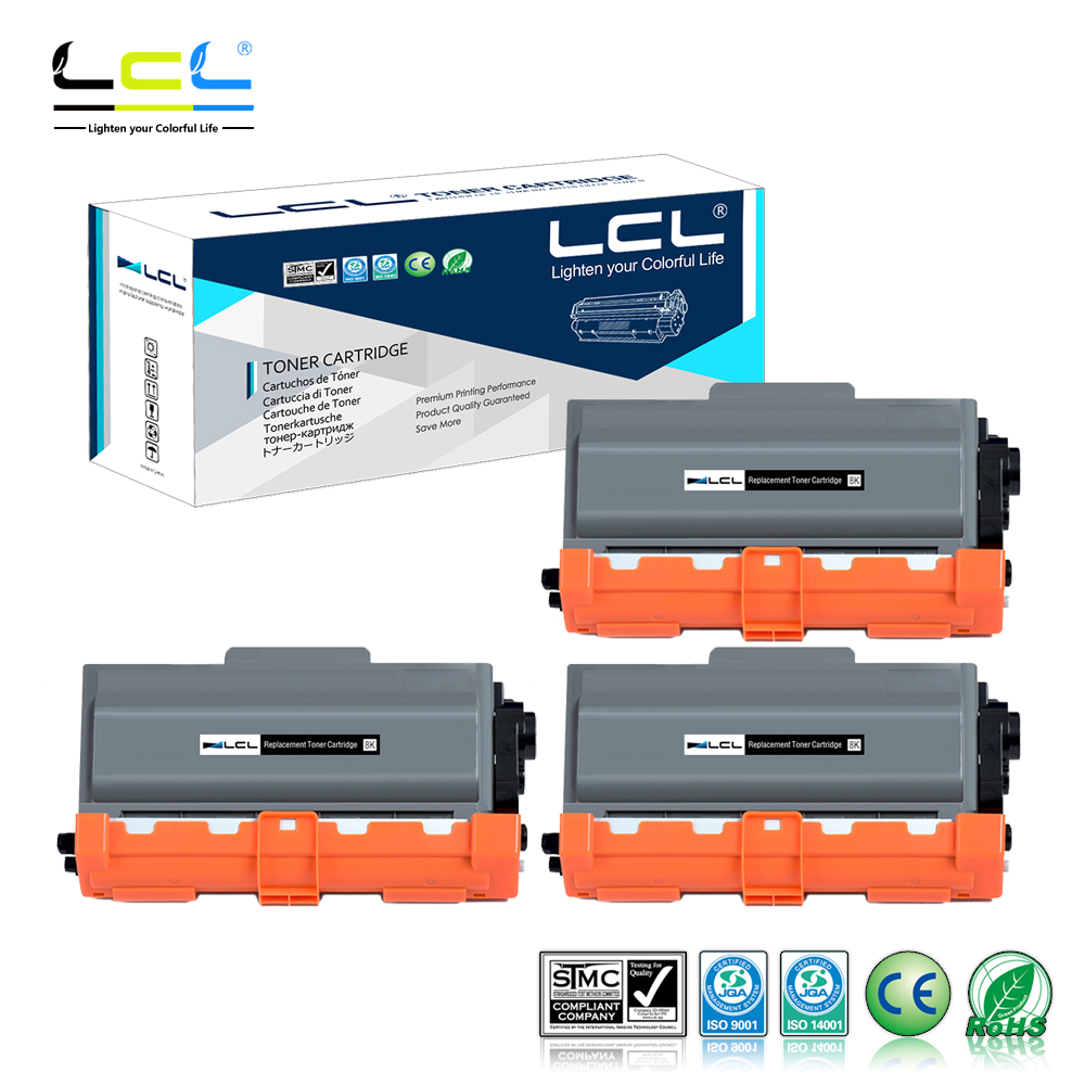 LCL TN3340 TN3310 TN 3310 TN 3340 (3-Pack Black) Toner Cartridge Compatible for Brother DCP-8110DN/HL-5440D/HL-5450DN/HL-5470DN lcl 31 32 33 34 2 pack black ink cartridge compatible for dell v525w dell v725w
