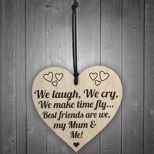 Meijiafei лучшие друзья моя мама и я деревянная висячая табличка с сердцем материнская любовь табличка знак