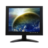 Wearson 8 Inch Metal LCD Monitor Quad BNC VGA AV Input 4:3 HD With Bracket With VESA Hole for PC CCTV Medical Home Security etc