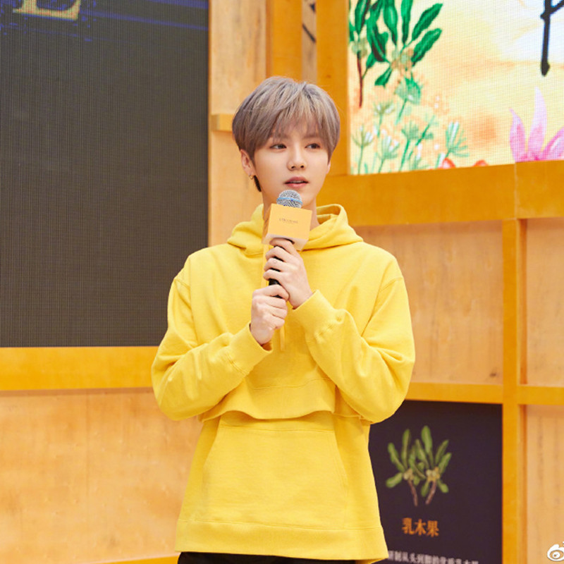 WXCTEAM Luhan Hoodie Upper Garment Autumn Women k-pop LU HAN Outwear Hooded Sweatshirts ins Same Style Hoodie Jumper