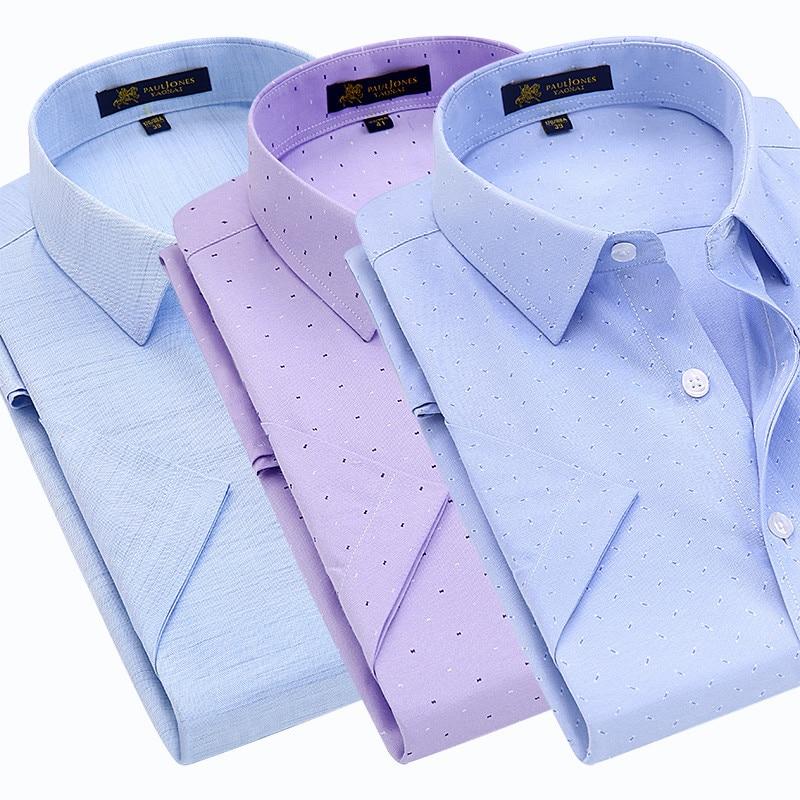 Summer turndown collar short sleeve shirts Men's Polo Shirts
