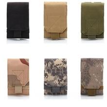 Mounchain 유니버설 야외 멀티 기능 육군 전술 휴대용 방수 600 D 나일론 휴대 전화 주머니 집어 케이스 가방 벨트