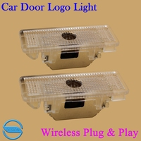 2X LED Car Door Welcome Light For BMW E39 X5 E52 E53 Z8 5 Series With