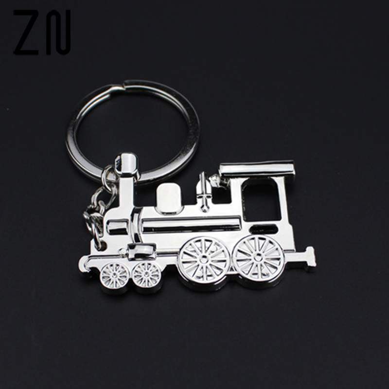ZN Metal Gift Keychains Train Key Ring Jewelry Car Key Chain For Men Women Game Key Holder