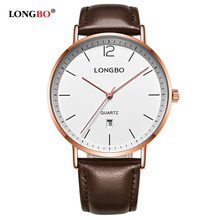 hot deal buy 2017 longbo mens watches top brand luxury stainless steel back lover wrist watches for women man dropshipping leather clock 5016