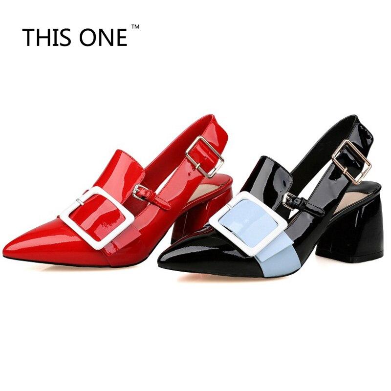 2018 Summer Sandalias Mujer Luxury Genuine Leather Sandals Women High Heels Sexy Sandals Genuine leather red black Sandals 6.5CM genuine leather