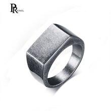 Сивер из оксида кольцо мужские ювелирные изделия золото черный