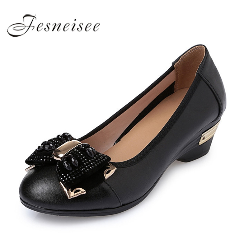 2019 New Classic Women Shoes Casual Pointed Toe Black Shoes Square Heel Comfortable fashion Slip on Women Shoes Retro Brogues mw