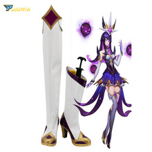 все цены на LOL Star Guardian The Dark Sovereign Syndra Cosplay Boots High Heel Shoes онлайн
