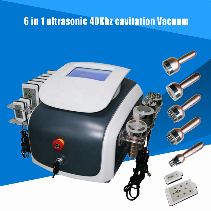 6 In 1 Ultrasonic 40Khz Cavitation Vacuum RF Liposuction Lipo Laser Multipolar RF Diode Laser Lipolaser Anti Aging Skin