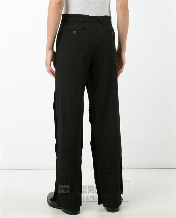 Lâche 27 Jeunes Nouvelle Large Pantalon Jambe Discothèque Personnalité Noir L'afflux Version Coréenne Hommes 44 De Coiffeur Casual 7Fxwrq57Y
