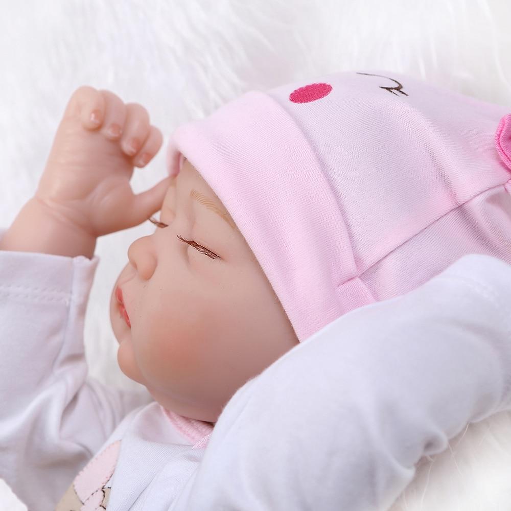 55 cm boneca reborn kukla reborn poupées lol dormir bébé fille poupée doux corps Silicone vinyle poupées jouets pour filles enfants cadeau - 4